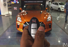 Silicone 3 Button Keyless Entry Key Fob Cover Case for Nissan GTR GT-R