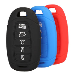 Silicone 5 Button Smart Key Keyless Entry Fob Cover Remote Case Skin Jacket for Hyundai Palisade 2019, 2020 and newer (SKU: HYUS5A)