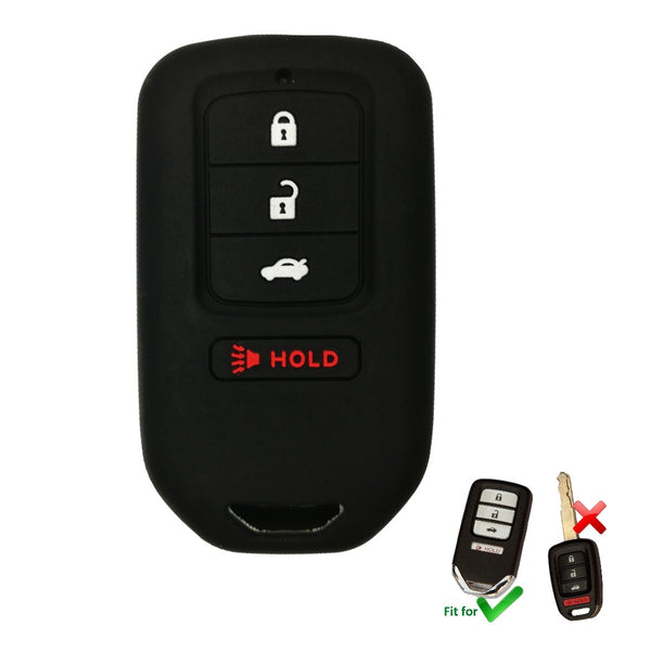 "Honda Silicone ""Smart"" Key Fob Cover Case for ""Push Button"" Civic Accord CRV, HRV EX EXL (SKU: HONS4A)"