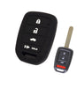 "Honda 4 Button Silicone Sport LX ""Stick"" Key Fob Remote Cover Case Jacket for Civic HRV CRV"