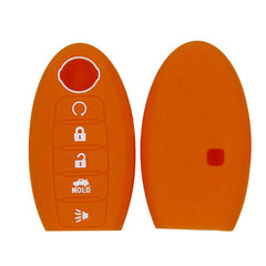 Nissan® 5 Button Key Fob Silicone Rubber Remote Cover Altima, Maxima, Titan, Leaf, Murano , Rogue (SKU: NISS5A)