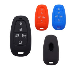 Silicone 5 Button Smart Key Fob Cover Case Skin fit for Hyundai Sonata [SKU: HYUS5B]