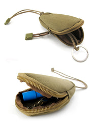 Nylon Universal EDC  Key Fob Remote Wallet Pouch Bag Holder Case For Car Keys, Coins, with Zipper & Keyring