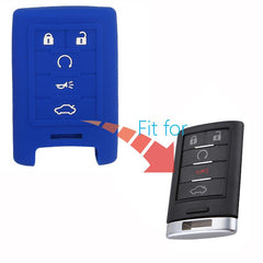 Silicone 5 Button Protective Smart Key Fob Rubber Remote Cover for Cadillac Corvette Chevrolet