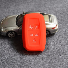 Silicone 5 Button Key Fob Remote Cover Case jacket For Land Rover Range Rover Discovery Evoque