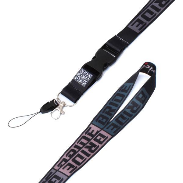 JDM Bride Lanyard Lanyard Neck Strap Badge Key Chain Honda Civic Type R Accord CRV S2000