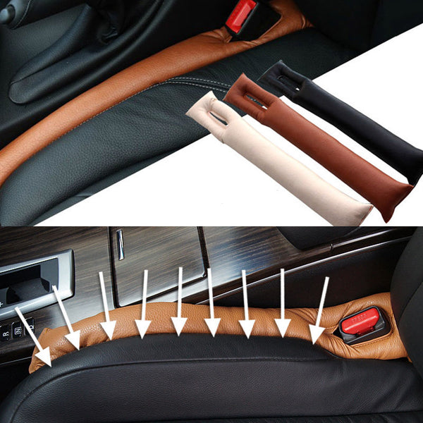 Universal Auto Truck Car PU Leather Seat Gap Filler Spacer Pad Holster Blocker (Set of 2)