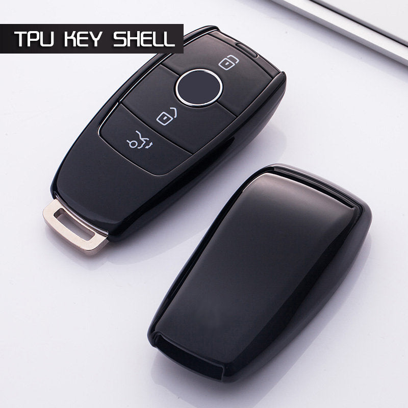 CHROME SMART KEY FOB REMOTE  COVER CASE SKIN For Mercedes Benz E Class