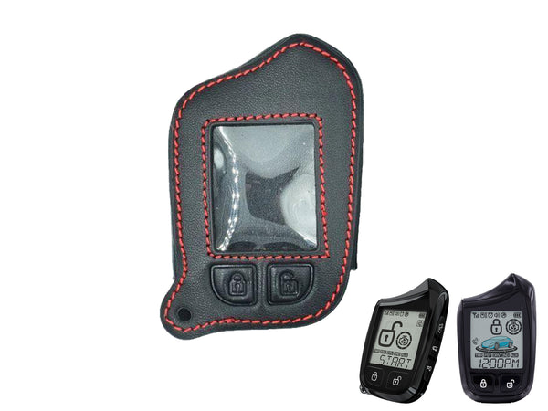 Leather Case for Compustar Prime 901 2-Way Remote Start + Security LCD Remote (Model: RF-2W901-SS)