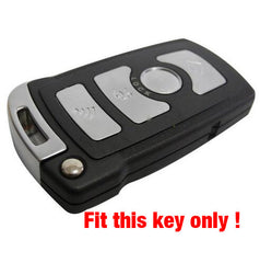 Silicone Key Fob 'Keyless Entry' Remote Case Cover Set New Skin For BMW 3 5 7 Series [SKU: BMWS4B]