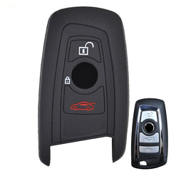 Silicone 3 Button Remote Key Fob Cover Case Skin  For BMW 1 2 3 5 7 Series X1 X3 X4 X5 X6 [SKU: BMWS3C v1]