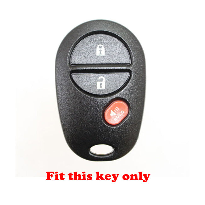 Silicone 3 Button Car Key Fob Remote Cover Case For Toyota Highlander  Sienna Sequoia Tacoma Tundra