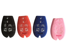 Silicone Protective Key Fob Cover Case For Chrysler Town & Country, Dodge Grand Caravan, Jeep