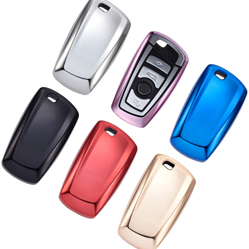 "TPU CAR 'KEYLESS ENTRY' ""SMART"" KEY FOB REMOTE COVER CASE SKIN SLEEVE JACKET FOR  For BMW"