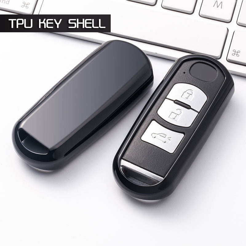 "Chrome CAR 'KEYLESS ENTRY' ""SMART"" KEY FOB REMOTE COVER CASE SKIN SLEEVE JACKET FOR Mazda (Universal)"