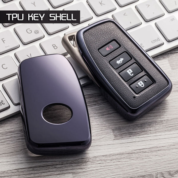 "TPU CAR 'KEYLESS ENTRY' ""SMART"" KEY FOB REMOTE SOFT COVER CASE SKIN SLEEVE JACKET for Lexus ES GS IS LX NX RC RX"