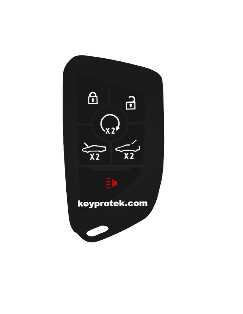 KeyProtek Silicone Rubber Protective Smart Key Keyless Entry Fob Remote Skin Cover Case Jacket Glove Holder for Corvette 2021
