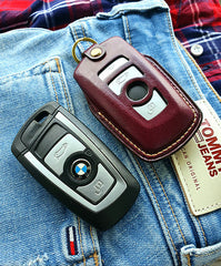 ESSEN - Genuine Leather Case Glove for BMW F Series 3, 4 Button Key Fob