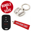 Honda 5 Button Silicone Smart Key Fob Remote Cover Case Jacket Skin + Keychain Bundle