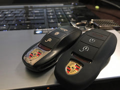 Silicone Rubber 3 Button Rubber Key Fob Remote Cover Case for Porsche (only for Porsche Entry & Drive)