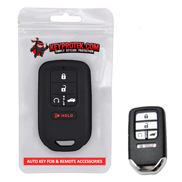 Honda 5 Button Silicone Smart Key Remote Fob Cover Case Jacket for Accord, Civic, Accord, CR-V  w/ Remote tart