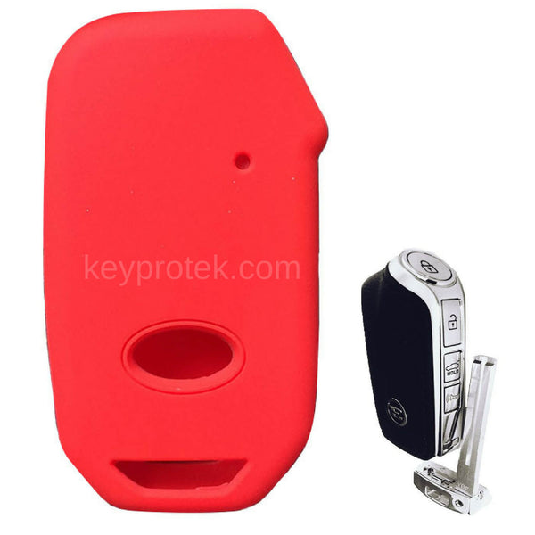 Silicone Rubber Protector Key Fob Remote Cover Case Skin Jacket for Kia Stinger 2018