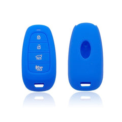 Silicone 4 Button Smart Keyless Entry Key Fob Cover Case Skin Jacket Protector Fit for Hyundai