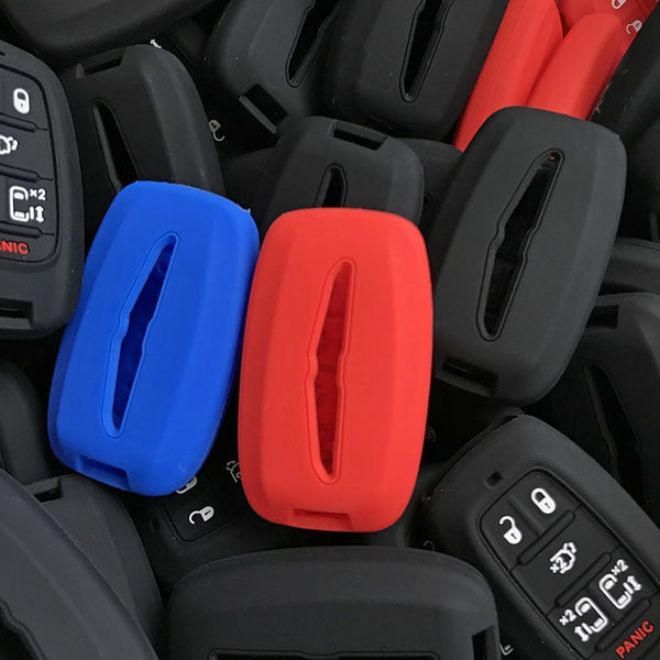 Silicone Smart Key Fob Covers Case Protector Keyless Remote Holder for Chrysler Pacifica
