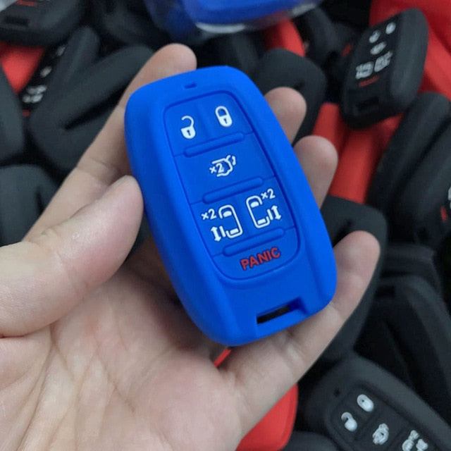 Silicone 6 Button Protective Rubber Car Smart Key Fob Cover Remote Fit for CHRYSLER Pacifica