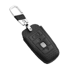 Leather Smart Key Fob Remote Cover Case Skin Jacket Fit for Rolls Royce with Keychain