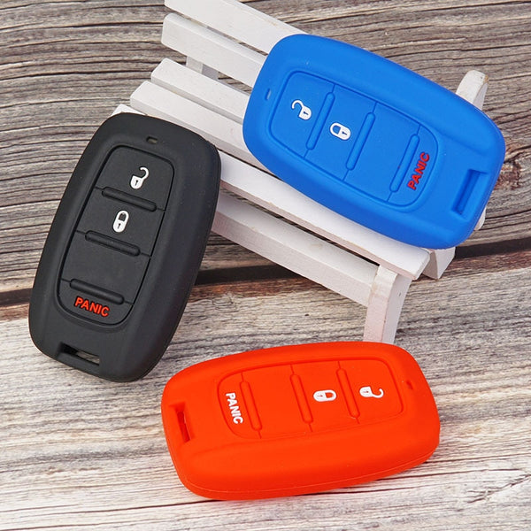 Silicone 3 Button Protective Car Key Fob Remote Cover Case Skin Jacket for CHRYSLER Pacifica