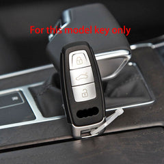 Silicone 3 Button Protective Car Key Fob Remote Cover Case Skin Jacket for New Audi A8 A8L Q8 e-Tron A6 2018 and up  (2018 - 2020+)