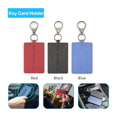 Leather Key Card Wallet Holder Pouch Case Fit for Tesla Model 3  (2 Pack)