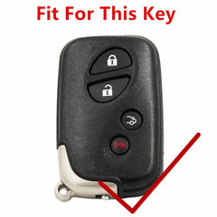 KeyProtek LEXUS SMART KEY REMOTE LEATHER PROTECTIVE CASE COVER BAG GLOVE JACKET POUCH LS RX with keychain
