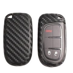 Universal Silicone Carbon Fiber Pattern Cover For 2/3/4/5 Button Dodge, Jeep, Chrysler