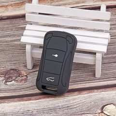 Silicone Rubber Folding Flip Remote Key Fob Case Cover Skin Jacket for Porsche