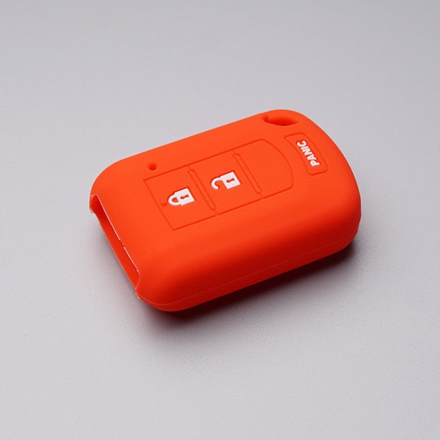Silicone Rubber 3 Button Protective Key Fob Remote Transmitter Case Cover Jacket Skin for Mitsubishi