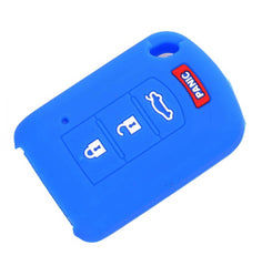 Silicone Rubber 4 Button Protective Key Fob Remote Transmitter Case Cover Jacket Skin for Mitsubishi