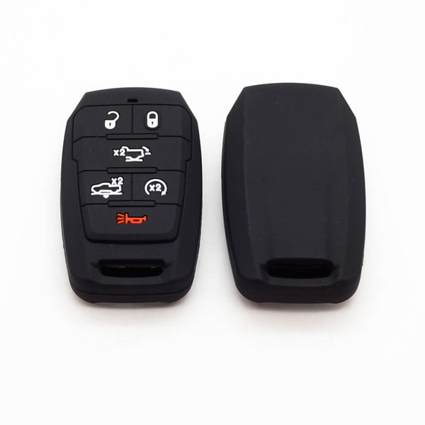 Silicone 6 Button Protective Car Smart Key Fob Cover for Dodge Ram 1500 (2019 and newer)