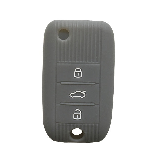 Silicone Protective 3 Button Flip / Switchblade Key fob Remote Cover Case Jacket Skin For MG [SKU:]