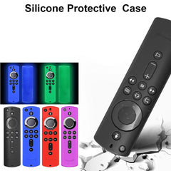 Silicone Rubber Protective Lightweight Anti Slip Shockproof Case Cover Skin Jacket Glove Holder for Fire TV Stick Remote Control [ 2 Pack]