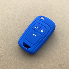 Silicone Rubber 3 Button Protective Flip Switchblade Key Fob Remote Cover Case Skin Jacket Glove Sleeve Holder for Chevrolet Spark Remote Flip Key PN: A2GM3AFUS03 (2013 - 2015 )