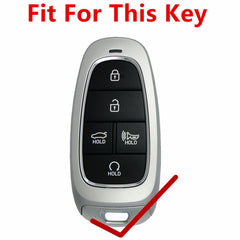 KeyProtek Leather Basics: Protective 5 Button PU Smart Key Fob Cover Remote Case for Hyundai Sonata (2019 and newer)