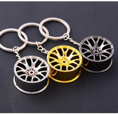 Auto Metal Wheel Rim Tire Car Key Chain Key Ring Accessory