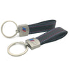 Leather Strap Chrome Keyring Keychain Key Fob Chain Ring For BMW M Sport Performance