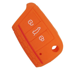 Silicone 3 Button Flip Key Remote Protective Cover Case Jacket Skin for VW VOLKSWAGEN Skoda