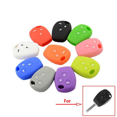 Silicone 3 Buttons Car Key Fob Remote Case Cover For Renault Clio Scenic Megane Duster Sandero Captur Twingo Modus