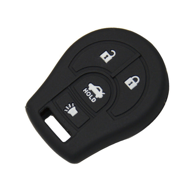 Silicone 4 Button Key Fob Remote Case Cover Jacket Skin for Nissan Maxima Versa Altima Sentra