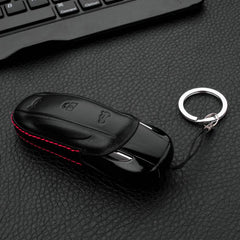 Handmade Leather Car Key Fob Remote Case Cover Glove with Keychain - For Tesla Model X