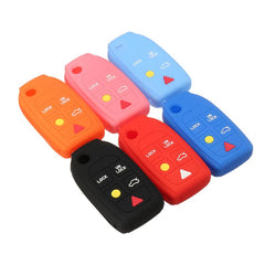 Silicone 5 Button Remote Flip Key Fob Remote Cover Case Jacket Skin For VOLVO C70 S40 S60 S80 XC90